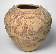 Cerámica del período Naqada II, fácilmente identificable por su forma y decoración. Esta se fecha hacia el 3450-3300 a.C.