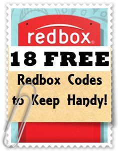 Redbox Codes Master List: 18 Free Rental Codes (Keep this list handy!) - Time 2 Save Workshops
