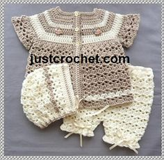 Ravelry: Baby crochet pattern JC134B pattern by Justcrochet Designs