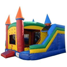 Commercial 360 Bounce House, Obstacle Course and Slide Combo