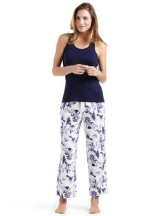 Sussan - Sleepwear - Sussan Collection - Birdcage print knit pant