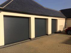 Anthracite Grey roller doors installed in Cambridgeshire.
