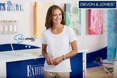 Buy Devon & Jones DP182W Ladies Shell T-Shirt - $14.29 at spazeapparel.com  Size: XS, S, M, L, XL, 2XL, 3XL  Call to order: +1 (618) 200 8393  #ladiestshirts #ladiesshelltshirts #devonandjones #usaonlineclothingstore #spazeapparel