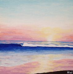 Sunset Surf by Kurt Weismair Acrylic ~ x Sunset Surf, Small Paintings, Surfing, Art, Art Background, Pocket Charts, Kunst, Surf, Performing Arts