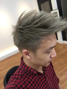 Mens Hair Color Ash Blonde By Ugly Duckling  Asian Hair Color  Pinterest