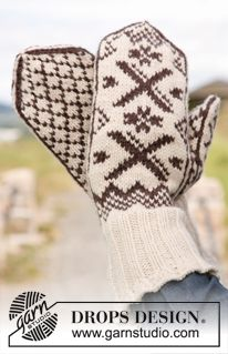 Men - Free knitting patterns and crochet patterns by DROPS Design Mittens Pattern, Knit Mittens, Knitted Gloves, Knitting Patterns Free, Free Knitting, Free Pattern, Crochet Patterns, Drops Design, Groomsmen