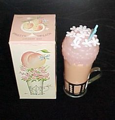 Avon Pretty Peach cologne mist in classic soda decanter...i had this too!