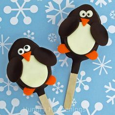 Tommy is crazy about penguins! These are a cute idea for his bday and I make so many rice kris pies treats I can do them in my sleep!
