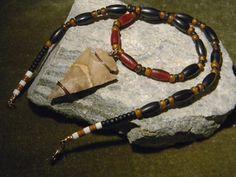 Jasper Arrowhead Necklace, Boho, Native American Jewelry, insp, Southwestern, Tribal, Hair Pipe Necklace, Mens Beaded Necklace