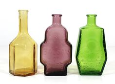 Set of 3 Wheaton Bottles by RuggyRevival on Etsy, $15.00