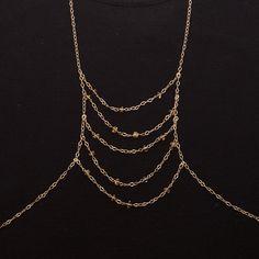 body chain with citrine - 'ciara'