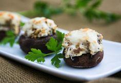 Cheesy Chicken Stuffed Mushrooms