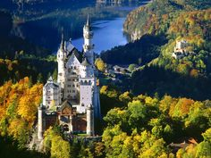 Neuschwanstein Castle in Germany.  I went on a field trip in the third grade.  Would LOVE to go back!