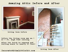 DecorateWithaLittleBit.com Amazing Atticliving room before and after