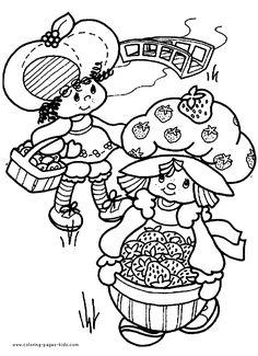 Strawberry Shortcake color page, cartoon characters coloring pages