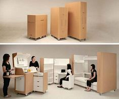 manufactured by japanese furniture makers atelier opa the kenchikukagu series of mobile furniture draws on the concept of skeleton infill housing a cheap space saving furniture