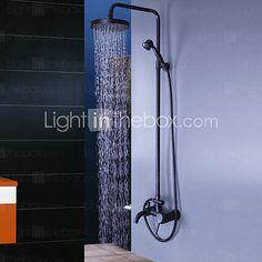 Grifo de ducha - Antiguo - Ducha lluvia / Alcachofa incluida - Latón (Bronce frotado en aceite) 2015 – €219.55