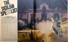 1975 Illustration by Michael Johnson. Norman Lewis, Michael Johnson, Magazine Illustration, Time Magazine, The Make, North Yorkshire, Sicilian, Thriller, Artist