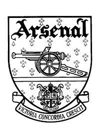 arsenal crest black and white