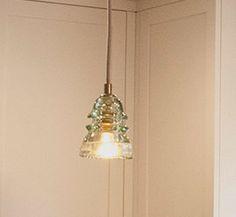 CUSTOM Glass Insulator Pendant Light - Rare Light Green Railroad Glass Insulator Pendant Light, Kitchen Light - Repurposed & Made in USA