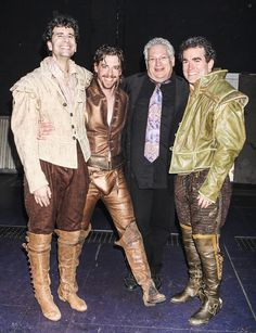 Harvey Fierstein visits with SOMETHING ROTTENS's John Cariani, Christian Borle and Brian d'Arcy James #pinoftheday