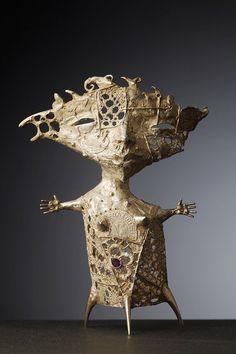 Ceramic Figures, Ceramic Art, Small Sculptures, Paperclay, Assemblage Art, Objet D'art, Figurative Art, Metal Art, Sculpture Art
