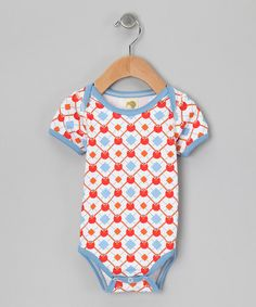 Take a look at this Blue & Red Elmo Organic Bodysuit - Infant by Kiwi Industries on #zulily today!