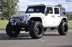 The #Jeep Wrangler is one of the kings of off roading. This 2014 Jeep Wrangler with all sorts of upgrades we love. Everything from the new Jeep wheels and tires to its beefed up fenders and suspension lift make for quite the entertaining SUV that's good to go in any situation. This American bad boy sports new #Fuel wheels for sale, a four-inch lift, body work, and more to make off roading a blast. #Love it? REPIN! http://www.wheelhero.com/rims-and-tires