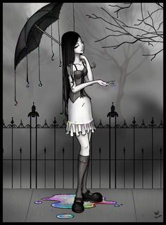 gothic girl in the rain ( Get your goth on with gothic punk clothing - a…