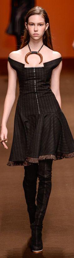 Tufi Duek Winter 2015 Ready-to-Wear, Brasil  Interesting shapes @ neckline
