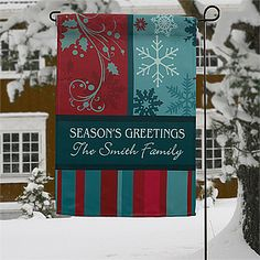 This would look so beautiful outside your home during the Winter! This Happy Holidays Design would be a great Christmas Gift, too! #Christmas