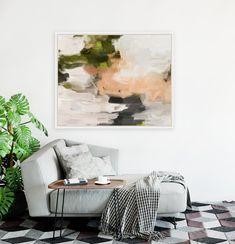 Bix, abstract canvas art print by Parima Studio #chaise