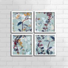 Coleção Quadros Floral Abstrato