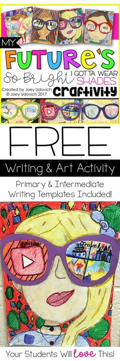 FREE--This writing and art activity will WITHOUT A DOUBT become a yearly tradition for your classroom. It was a HIT with my students, and I wanted to make something that was easy to print and assemble for my fellow teachers. End Of Year Activities, Art Activities, Classroom Activities, 4th Grade Writing, Teaching Writing, Teaching Ideas, Fourth Grade, Descriptive Writing Activities, Writing Lessons