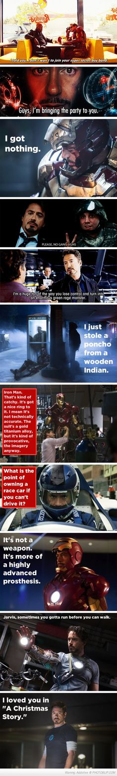 Tony Stark Witty Remarks.