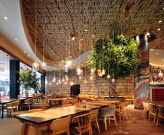 Restaurant and Bar Design Awards - Entry Bar Interior, Restaurant Interior Design, Commercial Interior Design, Commercial Interiors, Restaurant Interiors, Nando's Restaurant, Restaurant Concept, Jamaican Restaurant, Restaurant Lighting