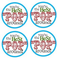 FATHER'S DAY PRINTABLE: You're the Best POP Around!  Pair with a selection of gourmet popcorn from Tastebudspopcorn.com .  Choose of few of their 200+ popcorn flavors!