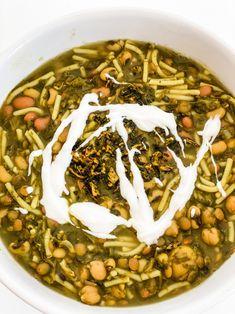 Vegan Soups, Vegan Recipes, Kookoo Sabzi, Drying Mint Leaves, Sabzi Recipe, Garlic Cloves Minced, Green Lentils, Noodle Soup, Cooking Time