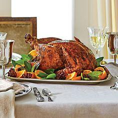 Citrus-Roasted Turkey with Lemon Aïoli Recipe | Southern Living  #turkey  #Thanksgiving  #citrus
