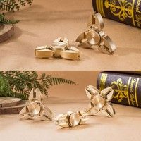 Wish | Two Sides/Triangle/Four Sides Torqbar Brass Fidget Hand Spinner Finger Toys EDC Focus ADHD Autism