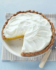 Lemon Cream Pie - pie shell - 4 large eggs - sugar - sour cream - about 4 lemons - unflavored gelatin - heavy cream