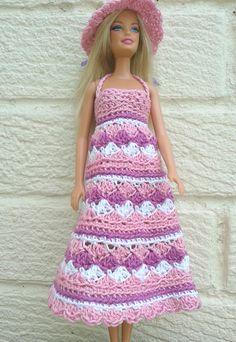 https://flic.kr/p/ndVGd6 | sundress pink | Pretty crochet sundress and hat Free…