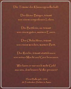 Bildgedicht Die Träume der Klassengesellschaft - Gedicht von Horst Bulla, dt. Freidenker, Dichter & Autor - Gedichte - Zitate - Quotes - deutsch