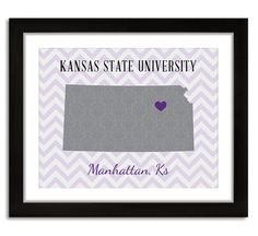 Kansas State University  Wildcats  Manhattan KS by LoubeeDesigns, $15.00