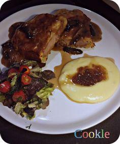 sfoliata-brizola-poures-3 Greek Recipes, Steak, French Toast, Pork, Cooking Recipes, Beef, Breakfast, Kale Stir Fry, Meat