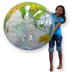 Inflatable Giant 36 Inches Topographical Globe - Educational Toys Planet. Great gift for 3 years old child. Have jumbo fun learning world geography with this 36-inches jumbo topographical inflatable globe! Develops Skills - geography, landscape forms, social studies, oceans, continents. #toys #learning #educational #gifts #child https://www.educationaltoysplanet.com/inflatable-giant-36-inches-topographical-globe.html