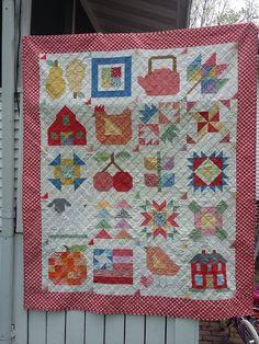 That's Sew Julie: Farm Girl Vintage Finish - Red Border
