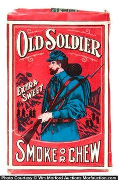 Old Soldier Tobacco Pack Vintage Advertisements, Vintage Ads, Vintage Images, Vintage Signs, Buy Cigars, Good Cigars, Cigarette Brands, Nostalgia, Cool Designs