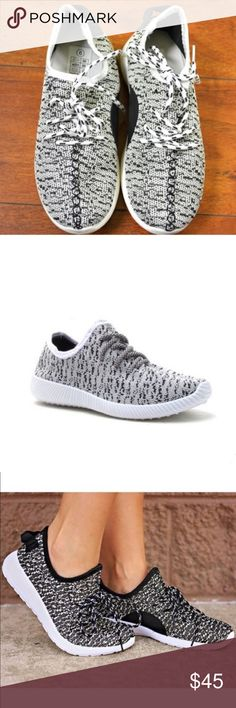 🎉CCO🎉 Flyknit Sneakers These sneaker feature a flyknit design with specs and a lace up front. Cushioned arch heel area. Third pic is to show inside and heel detail. No trades. Price FIRM unless bundled. Shoes