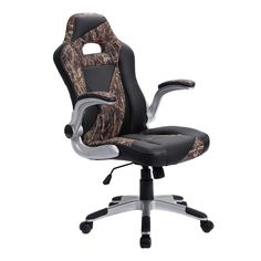 PU Leather High Back Executive Office Desk Task Computer Chair Green Camo
